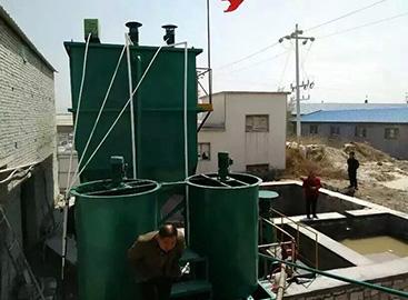 陶瓷厂生活污水工程施工现场